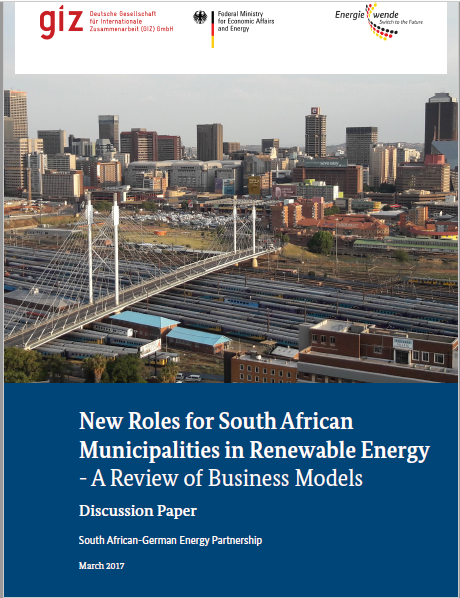New Roles for South African Municipalities; A Business Models Review