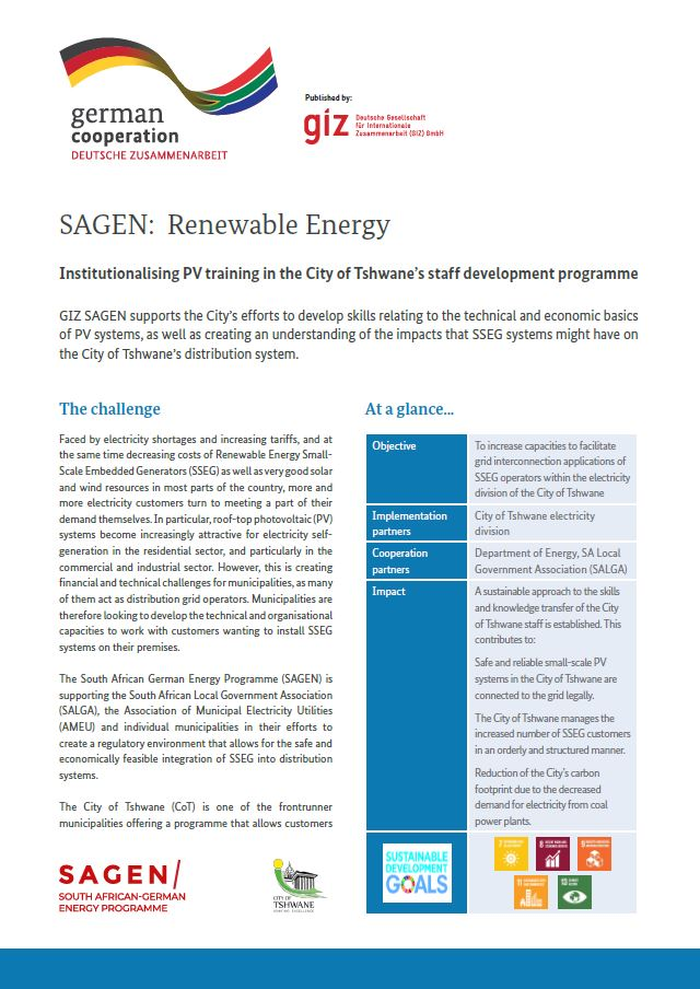 Fact Sheet: Institutionalising PV training in the CoT staff development programme