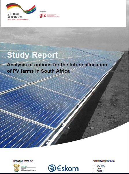 Analysis of options for the future allocation of PV farms in South Africa