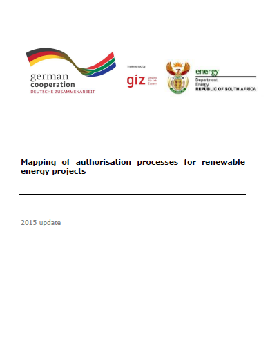 Mapping of the REIPPPP Authorisation Process for RE Projects